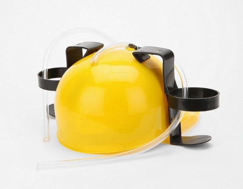 Van Tillian thinking cap drink helmet