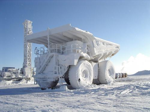 Frozen Construction Truck