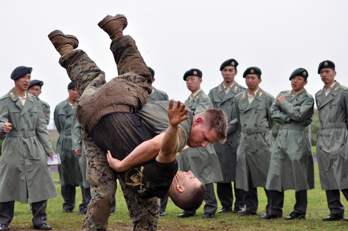 Marines demonstrate Corps tactics, principles
