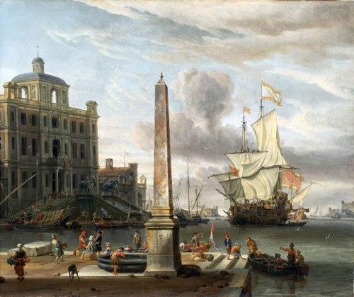 Abraham-Storck-xx-A-Venetian-Pilgrim-Ship-in-an-Italian-Port