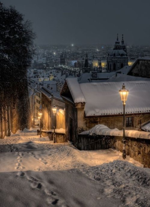 Prague Christmas Snow