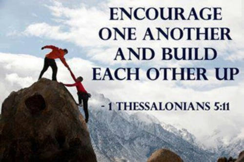 Image result for encourage one another verse