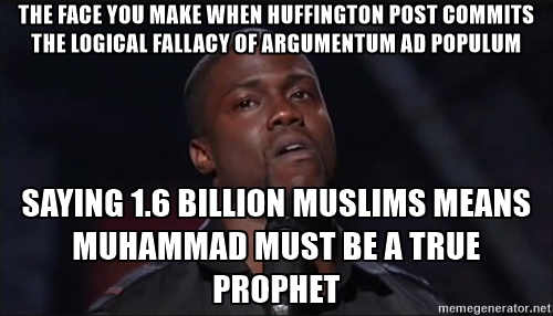 Huffington Post Muslim logical fallacy Argumentum ad populum