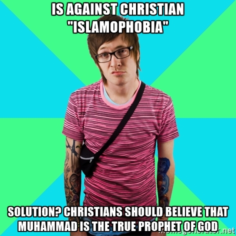 liberal hypocrisy against Christian making them islamic