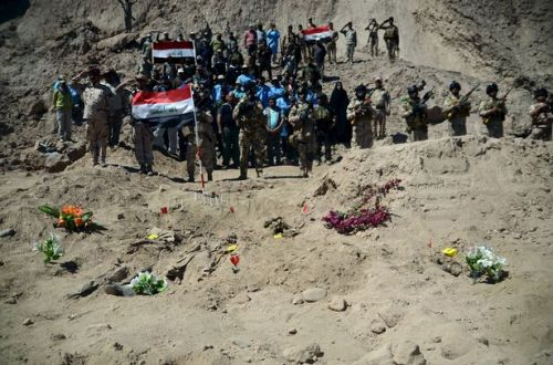 Iraqi soldier mass graves