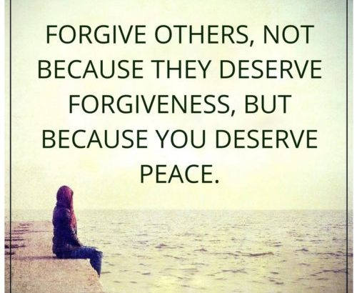 Is The Cliche Biblical Forgive Others Not Because They Deserve It