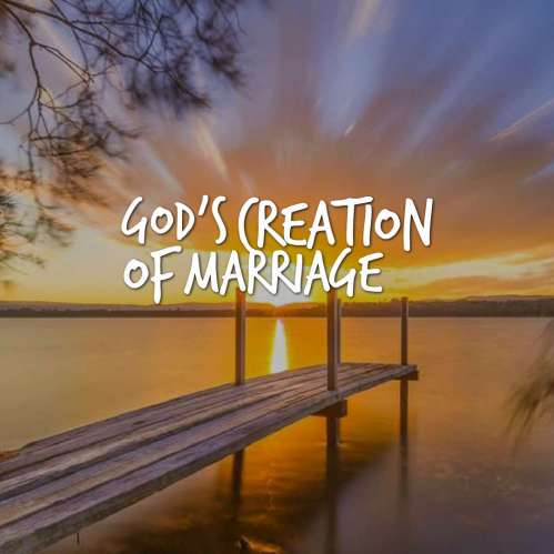 Genesis 2 and God's Creation of marriage Series: Table of Contents