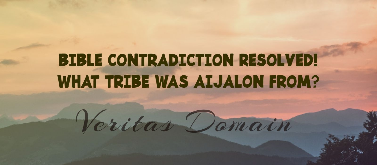 Bible Contradiction? What Tribe Was Aijalon From?